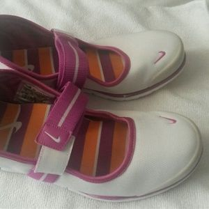 Nike Purple/Orange/White shoes w/Velcor straps
